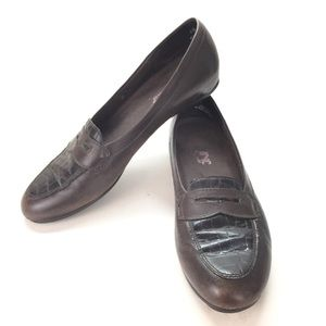 Munro American Crocodile Print Loafers Shoes 10 SS